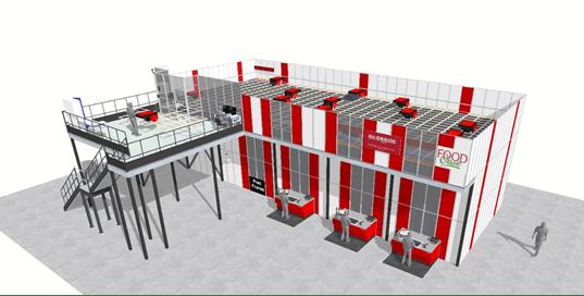 Le nouvel entrepôt de FoodOase avec système AutoStore intégré par Element Logic