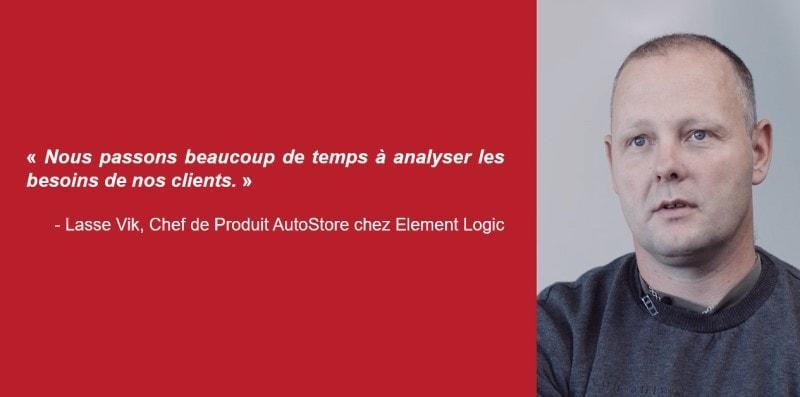 Lasse Vik, Chef de Produit AutoStore chez Element Logic