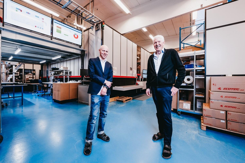 Roger Furnes Directeur Logistique chez Elotec et Jan Kleven Directeur Général d'Elotec