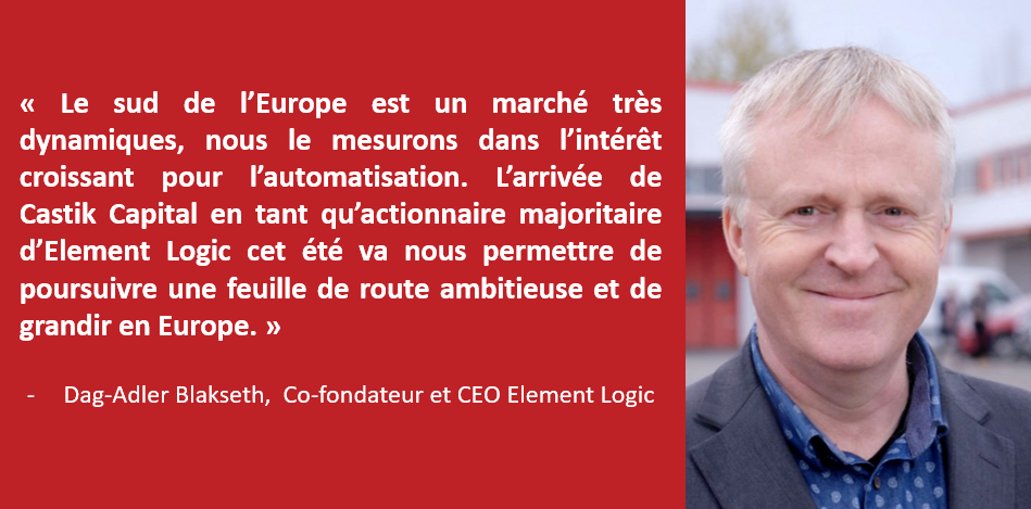 Dag-Adler Blakseth, Co-fondateur et CEO d'Element Logic
